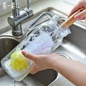 長柄杯刷嬰兒奶瓶刷子廚房用刷海綿洗杯子涮子玻璃杯清洗【全館限時88折】FC