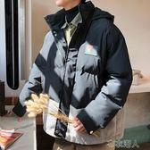 秋冬男裝 冬季連帽棉服男潮韓版寬松麂皮絨拼接棉衣保暖面包服外套 布衣潮人YJT