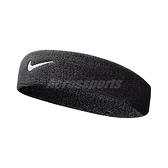 Nike 頭帶 Swoosh HeadBand 黑 白 男女款 勾勾 毛巾布 髮帶 【ACS】 NNN0701-0OS