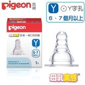 貝親-母乳實感矽膠標準奶嘴Y號(6-7個月以上)-Y字/Pigeon