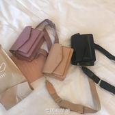 小包女韓版斜跨小方包鎖扣立體手提包可拆卸單帶單肩包 米蘭潮鞋館