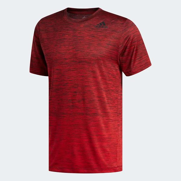 ADIDAS TECH GRADIENT 男裝 短袖 慢跑 訓練 透氣 排汗 吸濕 舒適 紅【運動世界】FL4395