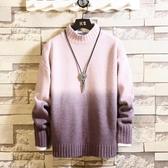 加絨加厚漸變色毛衣男士冬季新款半高領打底針織衫男韓版潮流  koko時裝店