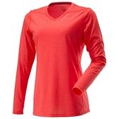 MIZUNO 女裝 長袖 慢跑 訓練 透氣 速乾 排汗 橘紅【運動世界】 J2MA670763