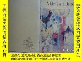 二手書博民逛書店英文原版罕見A Girl and a demon 一個女孩和一個