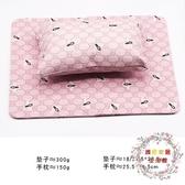 新款美甲師用手枕套裝大理石暈染枕頭PU皮美甲墊子可折疊小清新