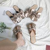 平底半拖鞋女外穿韓版蝴蝶結包頭平跟女鞋2019春夏新款時尚穆勒鞋【全網最低價】