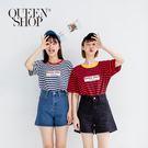 Queen Shop【04120017】高腰牛仔短褲 兩色售 S/M/L*現+預*
