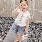 女童套裙時尚小女孩兩件套韓版洋氣兒童裙子潮