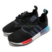 adidas 休閒鞋 NMD_R1 黑 藍 男鞋 女鞋 反光 漸層 襪套式 運動鞋 【PUMP306】 FW4365