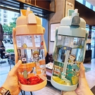 吸管杯 超大號2L大容量吸管塑料水杯男女運動戶外水壺帶刻度健身隨手杯子【快速出貨八折搶購】