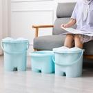 泡腳桶洗腳桶足浴桶洗腳盆足浴盆帶蓋加高加厚按摩塑料過膝神器
