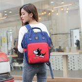雙肩包女韓版媽媽背包大容量母嬰包時尚辣媽手提包寶媽外出旅行包