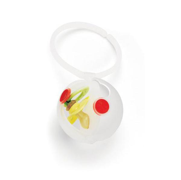 美國SKIP HOP Paci Egg 雙層奶嘴儲存盒_白色|奶嘴收納盒