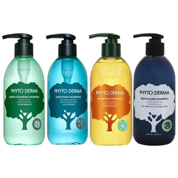 【買2送1贈品】Phyto Derma 朵蔓 頭皮淨化洗髮精(400ml) 款式可選【小三美日】