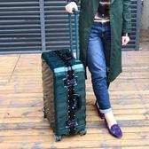 行李箱拉桿箱鋁框學生旅行箱萬向輪女男密碼箱包20/24/28寸皮箱子igo   蓓娜衣都