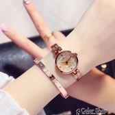 手錶女學生韓版簡約 潮流 ulzzang休閒大氣小錶盤chic復古時尚錶color shop