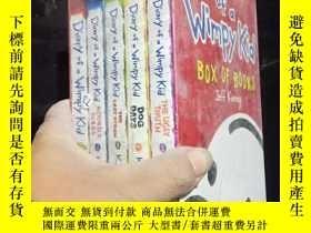 二手書博民逛書店Diary罕見of a Wimpy Kid(1-5 5冊塑封裝)