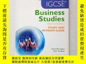 二手書博民逛書店Cambridge罕見IGCSE Business Studie