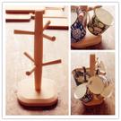 實用實木馬克杯咖啡杯多功能置物架  好用創意咖啡杯收納架