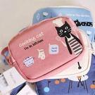 【發現。好貨】新款可愛小貓咪零錢包 雙拉鍊零錢包 收納包 附小手提帶
