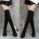 春秋冬季韓版平底長筒靴