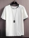 夏季男士短袖T恤內搭白色潮牌打底衫潮流ins純棉寬鬆冰感上衣服「時尚彩紅屋」