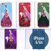 iPhone 6/6S (4.7吋)  TPU婚紗女孩 流沙殼 流動殼 手機殼 保護殼 手機套 亮粉