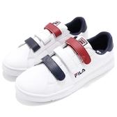 Fila 魔鬼氈 休閒鞋 白 藍 紅 小白鞋 韓系 男鞋 運動鞋【PUMP306】 1C321S123