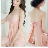 新款蕾絲吊帶睡裙女士性感睡衣極度誘惑透明內衣系帶三色帶T褲367