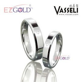 VASSELI ◤曼哈頓情緣◢ 鎢鋼鑽石戒(男)