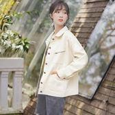 新款春秋外套女學生棒球服bf風寬鬆短款工裝夾克潮