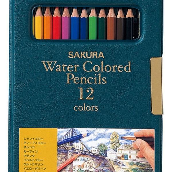 【日本製】【SAKURA】水溶性彩色鉛筆 12色(一組:5個) SD-3706 - 日本製