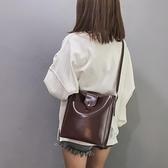 女包小包包2021春夏新款韓版復古水桶子母單肩包百搭簡約單肩小包 「雙10特惠」