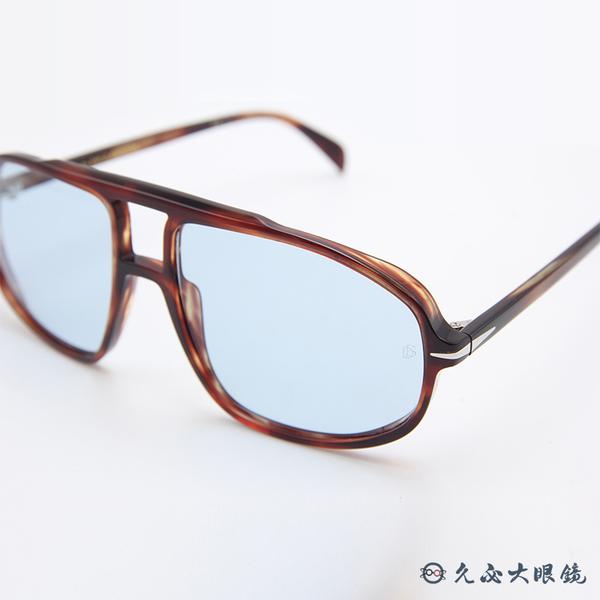 DB EYEWEAR 貝克漢設計品牌 DB 1000S (琥珀) 復古飛官 太陽眼鏡 久必大眼鏡