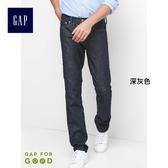 Gap男裝 休閒彈力男士緊身牛仔褲 水洗中腰長褲男 941825-深灰色
