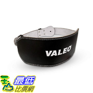 Valeo VRL6 6吋 Padded Leather Contoured Weightlifting Lifting Belt with Suede Lining B0007IS750