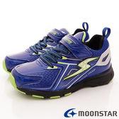 【MOONSTAR】日本月星競速童鞋-競速防水防滑4cm系列(中大童)藍-SSJ8265