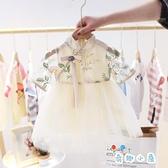 女童連身裙中小童寶寶裙子洋裝刺繡公主裙【奇趣小屋】