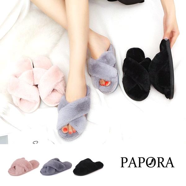 毛拖鞋.軟綿綿保暖平底拖鞋【KV1414】黑/灰/粉