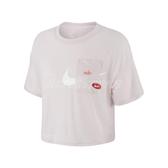 Nike 短袖T恤 Icon Clash Training Top 粉紅 白 女款 短版 訓練 運動 【ACS】 CJ3481-699