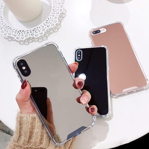 【SZ25】創意鏡面補妝鏡子手機殼 iphone xr手機殼 iphone 8 plus手機殼 iphone7plus手機殼 iphone xs max 手機殼