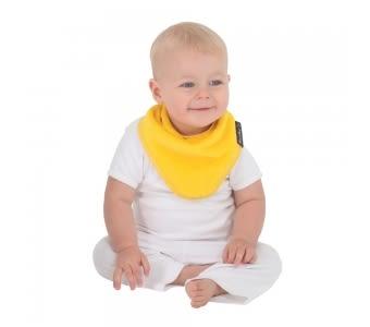 紐西蘭 Mum 2 Mum 機能型神奇三角口水巾圍兜-黃 吃飯衣 口水衣 防水衣