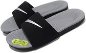 NIKE系列-KAWA SLIDE小童款黑灰色運動拖鞋-NO.819352009
