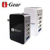 [富廉網] i-Gear IAU-54A 4 port USB (黑) 大電流旅充變壓器