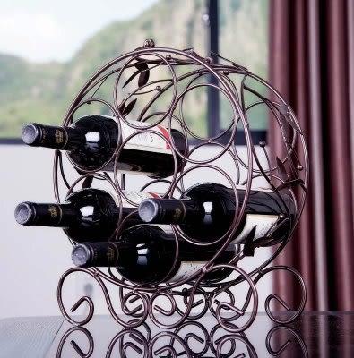 紅酒架  可裝7瓶酒 【藍星居家】