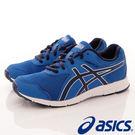 【ASICS】運動童鞋-拼色藍線條透氣運動款-747N-4250藍(大童)
