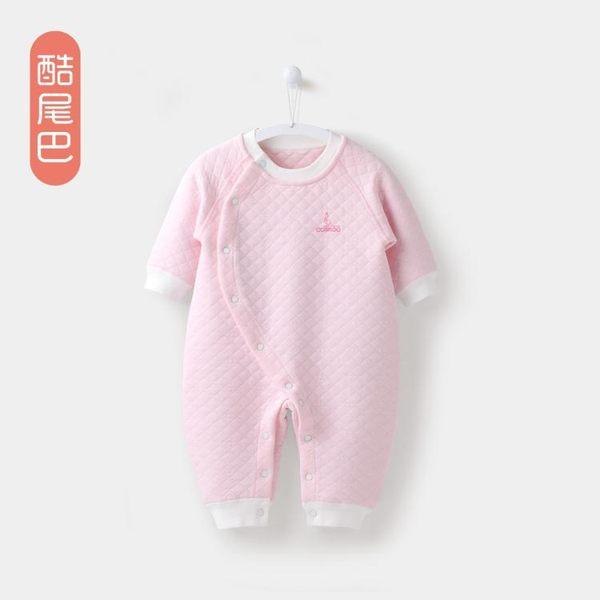嬰兒連體衣春秋季長袖衣服男女寶寶連體衣保暖哈衣爬爬服春裝