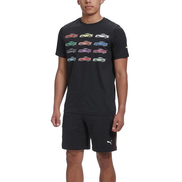 Puma Porsche 男 黑 短袖 上衣 聯名款 棉T 短T 運動 休閒 F1賽車 圓領上衣 59972101