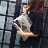 韓國東大門女包2018夏季新款手拿包簡約手抓包女款休閒信封包手包  巴黎街頭